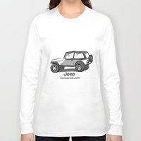jeep Long Sleeve T-shirts featuring Jeep by Mister Abigail