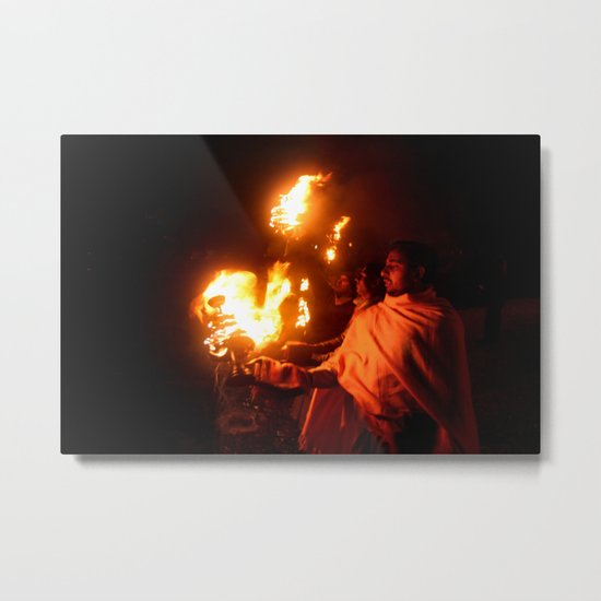 Holly Fire Metal Print