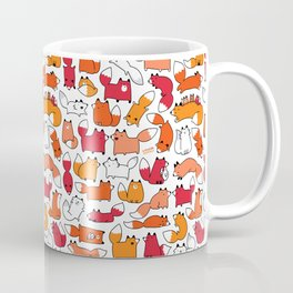 Foxy Foxes Doodle Coffee Mug