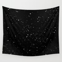 stars Wall Tapestries featuring Stars by Jorge Lopez