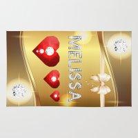 melissa smith Area & Throw Rugs featuring Melissa 01 by Daftblue