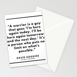 65 | David Goggins Quotes | 190901 Stationery Cards