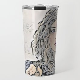 13 Reasons Why Hannah Baker Sheepish Artistic Illustration Zen Style Travel Mug