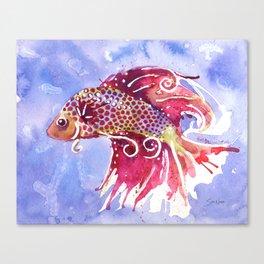 Fish Swirl Canvas Print