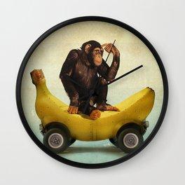 Chimp my Ride Wall Clock