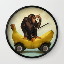 Chimp my Ride Wall Clock