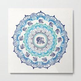 Lucky Elephant Metal Print