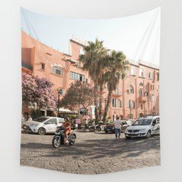 Procida Island Palmtree View Photo   Summer Holiday In Italy Art Print   Soft Pastel Color Travel Street Photography Wall Tapestry