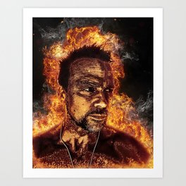 Fiery Flanery Art Print