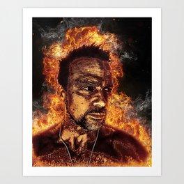 Fiery Flanery Art Print