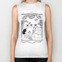 theatre Biker Tanks featuring theatre by mariana, a miserável(the miserable one)