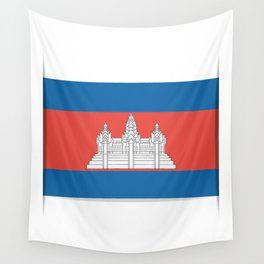 Flag of Cambodia.  The slit in the paper with shadows.  Wall Tapestry