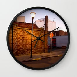Urban Night Walk Wall Clock