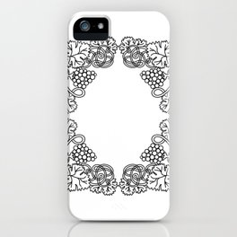 Abstract floral frame iPhone Case