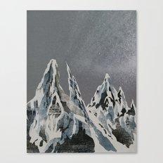 Mountains - Winter Sky Canvas Print