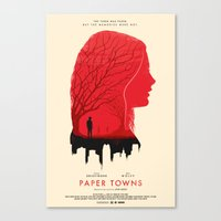 paper towns Canvas Prints featuring Memories - Paper Towns  by Zahid C