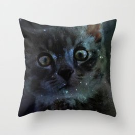 Galaxy Cat Throw Pillow