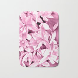 Cascading orchids - Pink Bath Mat