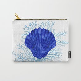 Seashell on coral - watercolors Carry-All Pouch
