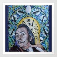 dali Art Prints featuring Dali  by Magdalena Almero