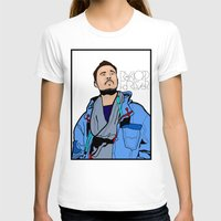 lichtenstein T-shirts featuring Röyksopp Forever Roy Lichtenstein Inspired Portrait 1 by Alli Vanes