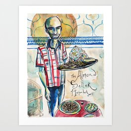 The Almond Seller of Istanbul Art Print