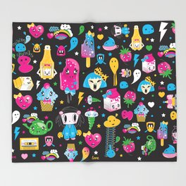 my kawaii world Throw Blanket