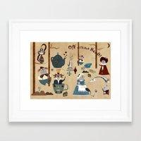 wonderland Framed Art Prints featuring Wonderland by Liam Smith
