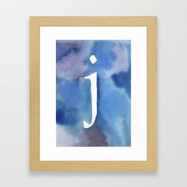 j watercolor Framed Art Print