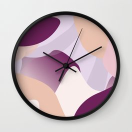 Lavender Dreamsicle Wall Clock