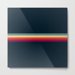 Retro Stripes Thunderbird Metal Print