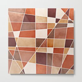 Cubist Autumn Metal Print