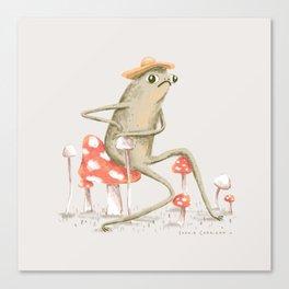 Awkward Toad Canvas Print
