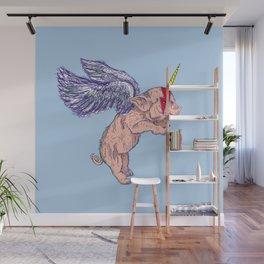 Flying Pigasus Unicorn Wall Mural