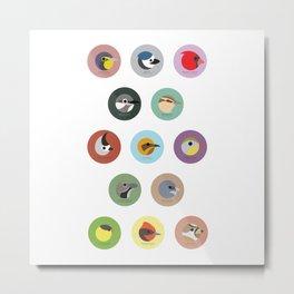 Series 01 Bird Collection Metal Print