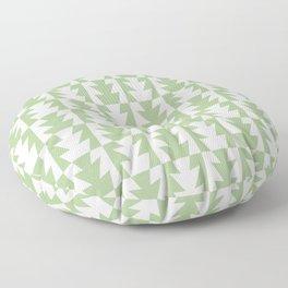 Art Deco Jagged Edge Pattern Sage Green Floor Pillow