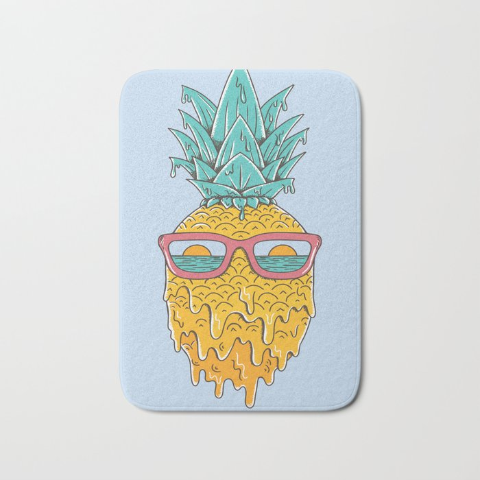 Pineapple Summer Bath Mat
