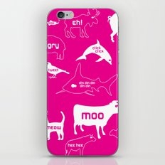 Animal Noises in Pink iPhone & iPod Skin