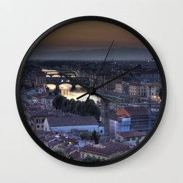 Florence and Ponte Vecchio Wall Clock