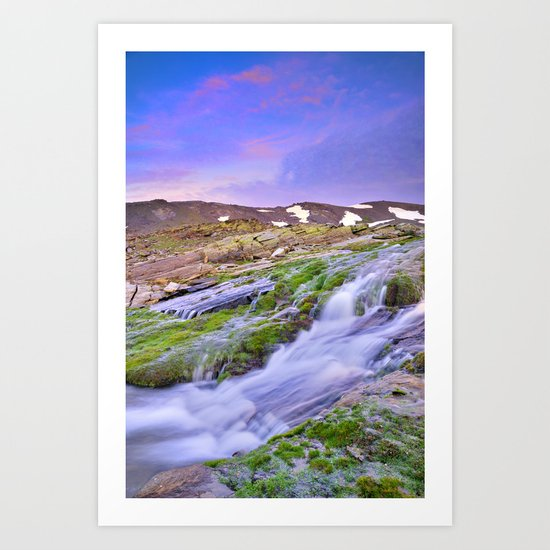mountain river at 3000 meters high  Art Print