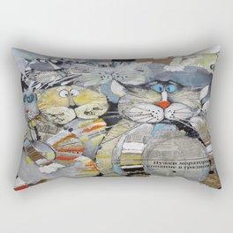 Cat Gang Rectangular Pillow