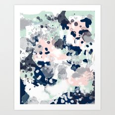 Tate - abstract modern minimal painting art nursery baby office home decor minimalist modern nursery Art Print