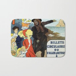 1896 Normandy Brittany Jersey travel ad Bath Mat
