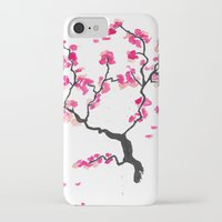 cherry blossoms iPhone & iPod Cases featuring Cherry Blossoms by Amaya