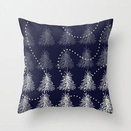 Fading Trees blu Throw Pillow
