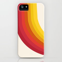 4-Sho - retro 70s style throwback vibes 1970's trendy decor art minimalist rainbow stripes iPhone Case
