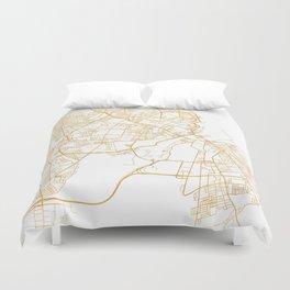 COPENHAGEN DENMARK CITY STREET MAP ART Duvet Cover