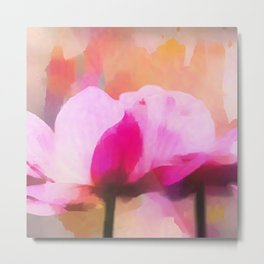 Anemone abstract hand painted Metal Print