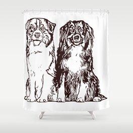Australian Shepherd working dog for dog lovers Shower Curtain