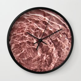 Blush dip Wall Clock